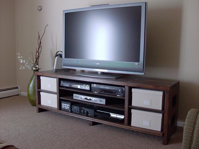 ladder tv stand plans