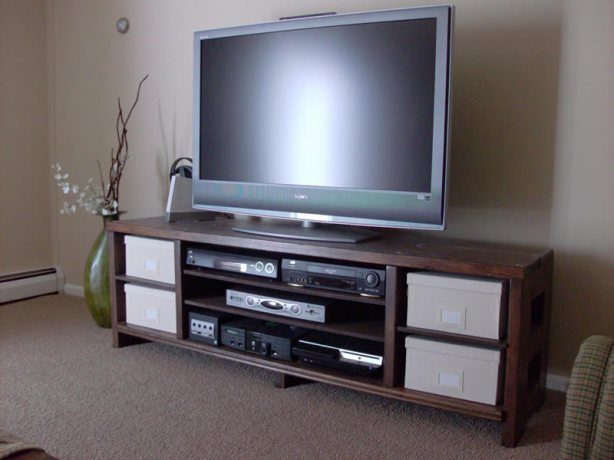 woodwork plans for tv cabinet